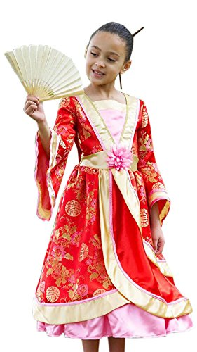 Fancy Ole - Mädchen Girl Karneval Komplett Kostüm Oriental Princess, Rot, Größe 134-146, 9-11 Jahre (Damen Disney Princess Aurora Kostüme)