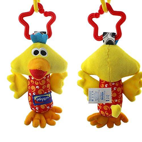 Romote 1 stücke Neugeborenen Baby Hängende Rasseln Bett Kinderwagen Krippe Handbells Spielzeug (Nette Huhn) (Balance Huhn)