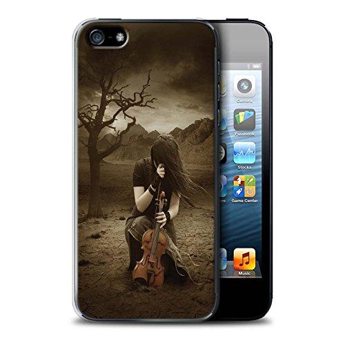 Officiel Elena Dudina Coque / Etui pour Apple iPhone 5/5S / Beauté/Violon Design / Réconfort Musique Collection Abandonné