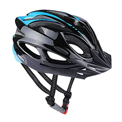 Veelicht Fahrradhelm, Verstellbarer Fahrrad Radhelm FüR Herren Damen, mit Abnehmbarem Visier, Blau Schwarz