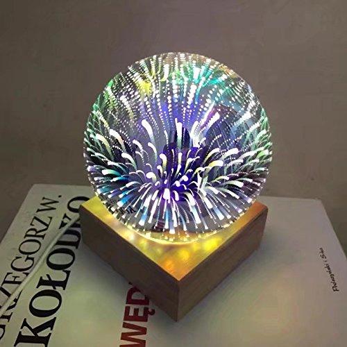 GEBDSM Magic Sky Nachtlicht, mehrfarbige LED-Leuchtmittel, LED-Nachtlicht, dekoratives Licht für Schlafzimmer, Nachttisch, Kinderzimmer, Geschenk, bunt, Sphere lamp 3.0watts 5.0volts