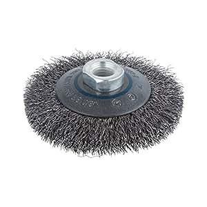 Wolfcraft 2705000 brosse m tallique conique pour meuleuse - Brosse metallique meuleuse ...