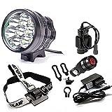CDC® 7x Cree XM-L T6 MTB 9800 Lumen Fahrrad Mountainbike Fahrrad-Kopf-Licht-Scheinwerfer + Rücklicht Fahrradlampe Scheinwerfer Taschenlampe
