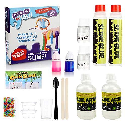 GoldenMonkey DIY El Kit de fabricación de Baba más Popular, Original Haz tu Propio Limo, diversión mágica para niñas Regalo de niños, Grande Activador de Limo DIY Establece Bolsas de Baba