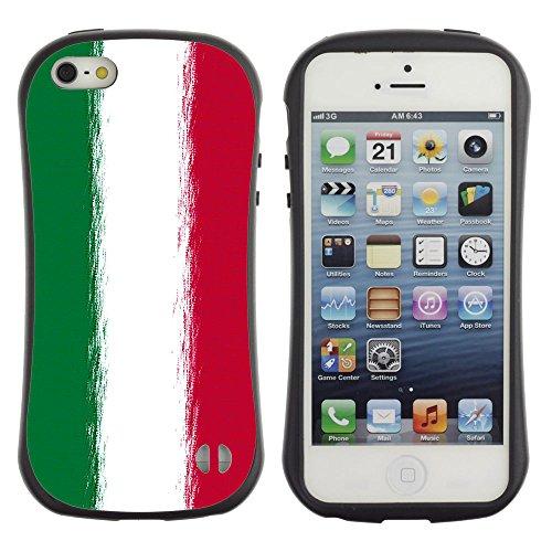 Graphic4You Italien Italienisch Flagge Anti-Rutsch Stoßfeste Hülle Weichen Case Tasche Schale Schutzhülle für Apple iPhone SE / 5 / 5S Design #7