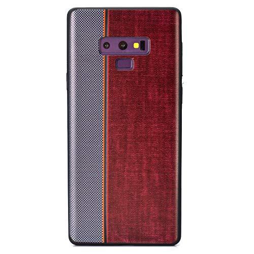 Carols Samsung Galaxy Note 9 Hülle, TPU Handyhülle Schutzhülle für Samsung Galaxy Note 9 Case Cover, Samsung Galaxy Note 9 Case Cover Black - Rot