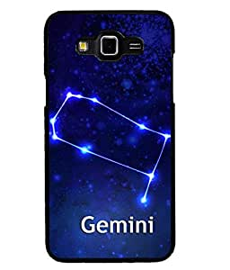 Fuson 2D Printed Sunsign Gemini Designer back case cover for Samsung Galaxy Grand 3 - D4470