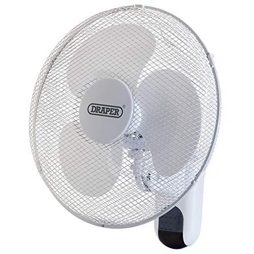 Draper 40,6 cm à Fixation Murale télécommande Ventilateur de Refroidissement Bureau à Domicile Gym entrepôt