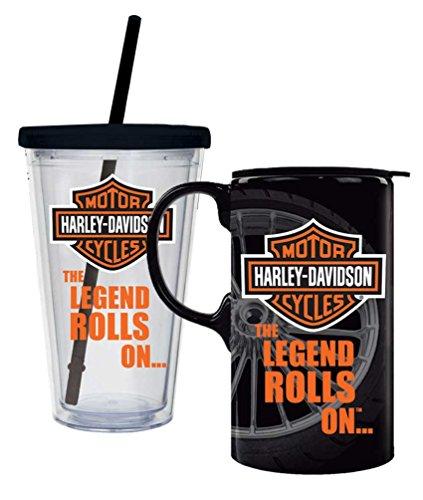 Harley-Davidson Bar & Shield Logo Hot & Cold Drinkware Set, 2 Pack, P4214900LEG by Harley-Davidson