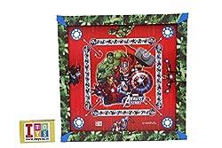 Marvel Carrom Board - Avengers, Multi Color (20x20 Size)