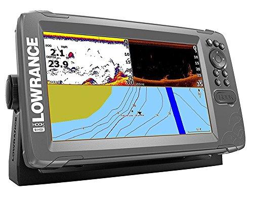 Lowrance 000-14182-001 Hook2 Splitshot HDI, Fischfinder und Kartenplotter, 22,86 cm (9 Zoll) Schwarz