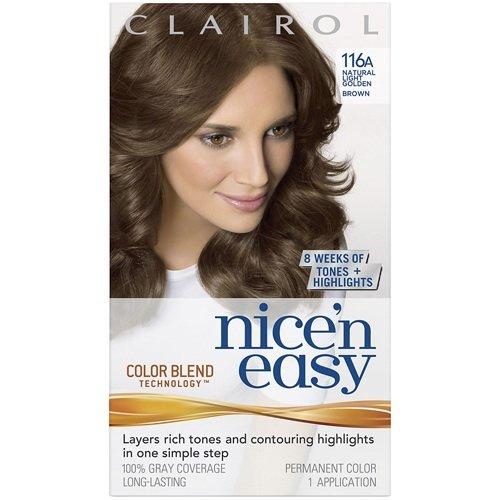 clairol coloration de longue dure nice n easy couleur 116a chtain clair dor - Coloration Chatain Auburn