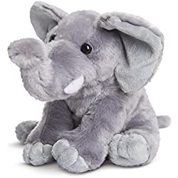 Destination Nation - Elefante de Peluche, 24 cm, Color Gris (Aurora World 19266)