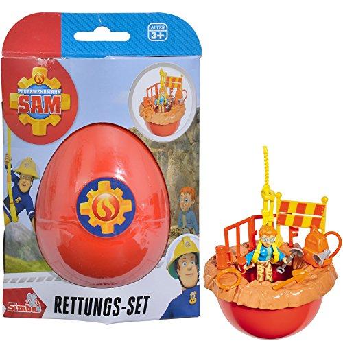 feuerwehrmann sam ei Unbekannt Feuerwehrmann Sam Überraschung im Ei Rettungs-Set mit Norman viel Zubehör • Überraschungs Rettungsset Geschenk Kinder Spielzeug