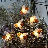 Inicio Honey Bee Fairy Lichterketten Outdoor Garten Hochzeit DIY Fernbedienung Weihnachtsdekoration Blinkende Beleuchtung Batteriebetriebene 6 Meter 40 Lichter