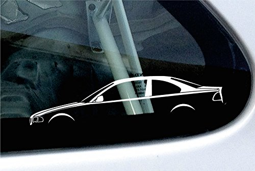 2 x Car Stickers silhouette-based on BMW 3 series E46 320d 320i coupé 330i
