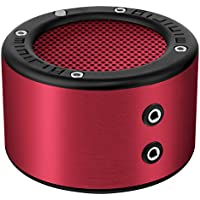 MINIRIG MINI Portable Rechargeable Bluetooth Speaker - 30 Hour Battery - Premium Stereo Sound - Red
