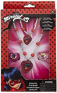 Joy Toy 65991figuras and charactere Miraculous joyas set: 1perlas pulsera, 1perlas collar y 2anillas en paquete de regalo 12x 4x 18cm, Girls