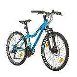 BIKE SPORT LIVE ACTIVE 24 Zoll Bikesport Hunter Jugend Fahrrad Jungenfahrrad Kindefahrrad Kinderrad Mädchenfahrrad, Shimano 21 Gang (Blau Matt)