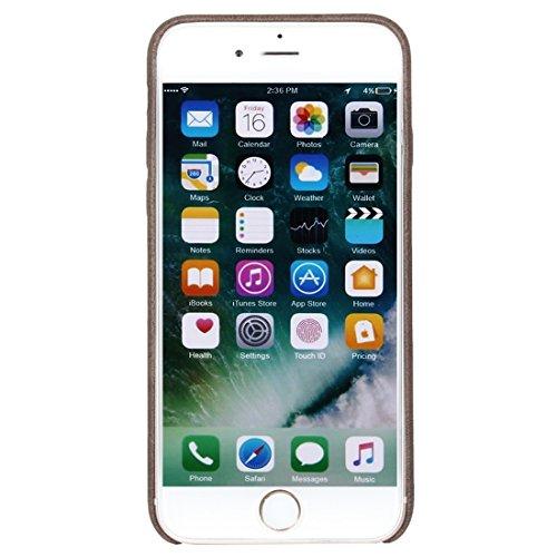 Hülle für iPhone 7 plus , Schutzhülle Für iPhone 7 Plus Crazy Pferd Textur Leder Oberfläche Soft TPU Schutzmaßnahmen zurück Fall ,hülle für iPhone 7 plus , case for iphone 7 plus ( Color : Red ) Brown