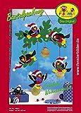 Fischer Fensterbild FRÖHLICHE WEIHNACHTSZEIT / Bastelpackung / ca. 60x82 cm / zum Selberbasteln / Basteln mit Papier und Pappe für Weihnachten