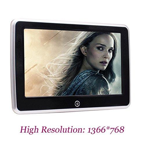 """Universal-10.1"""" Tablet-Style Clip-On Auto-R¨¹cksitz-Monitor Kopfst¨¹tze Android 6.0 Rear-Seat-Entertainment-System-Bildschirm mit hohen Aufl?sung 1366 * 768 Suport USB / SD / HDMI-Anschluss und WiFi"""