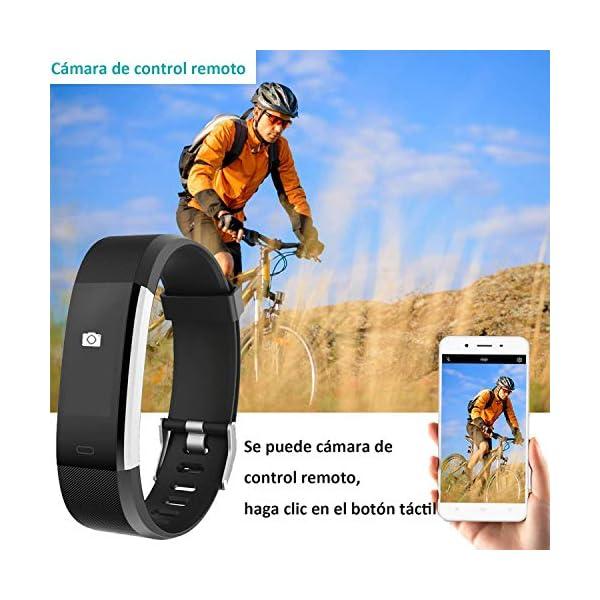YAMAY Pulsera Actividad con Pulsómetro Mujer Hombre, Monitor de Actividad Deportiva, Ritmo Cardíaco, Impermeable IP67… 5
