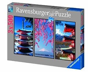 Ravensburger - 16315 - Puzzle Classique - Cœur Du Japon - 3 X 500 Pièces