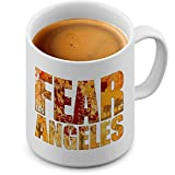 Funtasstic Tasse Fear Los Angeles - Kaffeepott Kaffeebecher 375 ml, Farbe:weiss-matt