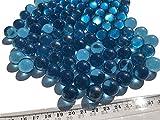 Crystal King, Sfere decorative in vetro blu, biglie, diametro 16 mm, 500 g, colore blu trasparente