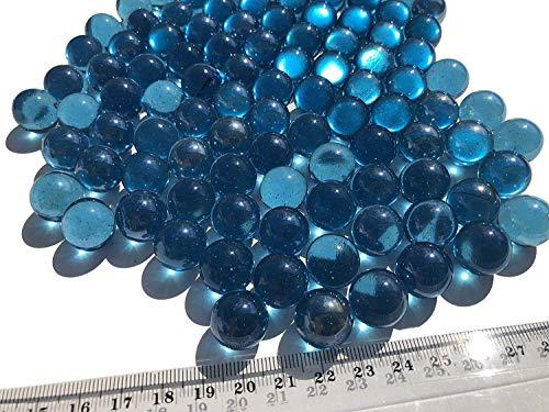 azules wh846bolas de cristal, 16mm de diámetro 500gr–Bolas Transparente azules claras Marmota Deko bolas de cristal Decoración Azul Cristal bolitas de Crystal King