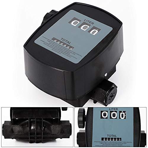 YIYIBY Diesel durchflussmesser durchflussmessgerät Zählwerk 03 für Dieselpumpe Heizölpumpe Heizölzählwerk Zähluhr Tankstelle