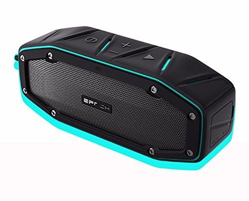 DMMASH Outdoor Bluetooth Lautsprecher IPX6 Zertifiziert Wasserdichte Tragbare Drahtlose Lautsprecher,Blue