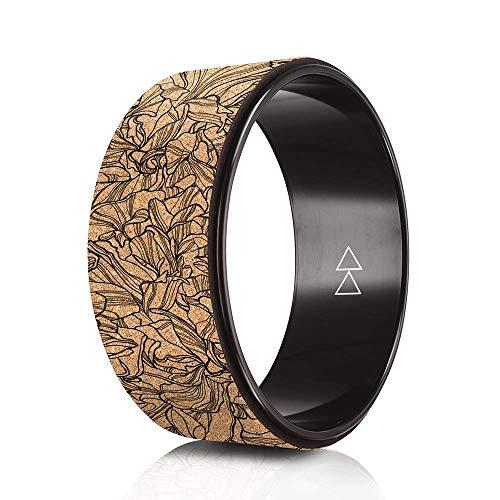 Yoga Design Lab Yoga Wheel | Extra stark, natürlicher Kork, Dharma Rad, umweltfreundlich | intensivere Dehnung…