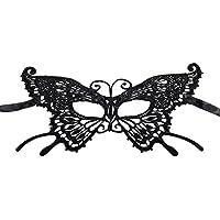 Hosaire 1x Máscara de Encaje Mariposa Negra,Mujeres Antifaz para Mascarada Veneciano Carnaval Halloween Fiesta