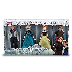 Ensemble de poupées miniatures La Reine des neiges - Elsa, Anna, Kristoff, Hans