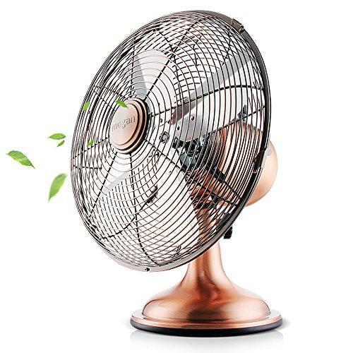 bcyfan ventilatore | Design retrò Ventilatore da tavolo in rame | 3Livelli di velocità | 4ventilatore | Potenza assorbita: 40W | Diametro 34cm | Elevato flusso d' aria | robusto alloggiamento in metallo | rame veredelung