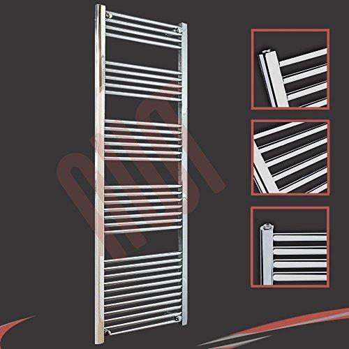 600mm (w) x 1800mm (h) - Radiateur sèche-serviettes plat chromé Barre Horizontale Diamètre: 22mm, Bar Modèle: 4 + 5 + 6 + 7 + 11