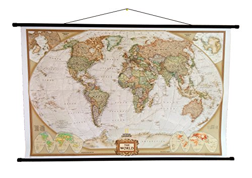 mapa-politico-mundial-de-national-geographic-mural-laminado-estilo-executive-con-colgadores-marrones