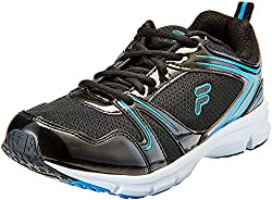 Fila Mens Spinello Black and Blue Running Shoes - 9 UK/India (43 EU)