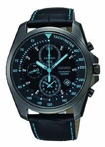 Reloj Seiko SNDD71P1 de cuarzo para hombre con correa de piel, color negro de Seiko