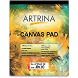 EASCAN ART Painting Drawing and Sketch Accessories Artrina Cotton Canvas Painting Pad (White, 8x10 Inches)
