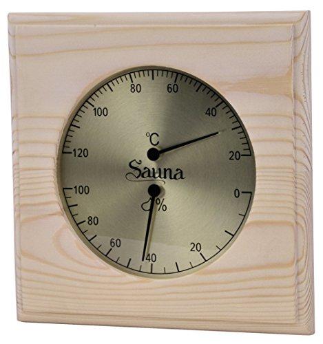 WelaSol Top Kombigerät Sauna Thermometer mit Hygrometer für Sauna, Dampfsauna, Biosau.
