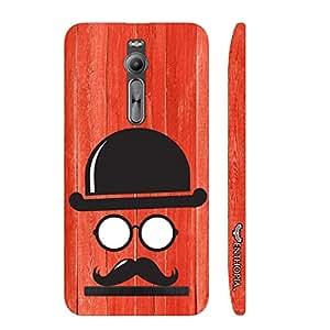 Asus Zenfone 2 Movember Man designer mobile hard shell case by Enthopia