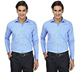 FOCIL Sky Blue Formal Wear Combo Shirt f...
