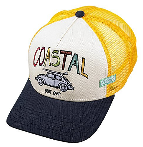Camp Trucker Hut (COASTAL - Surf Camp (white) - High Fitted Trucker Cap)