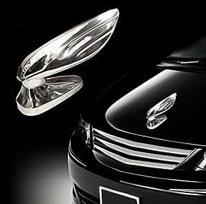 Rivik-Chrome Wing Car Front Bonnet Hood Sticker + Rivik Logo Keyring for Toyota Innova2.5 EV () PS 7 Seater BS IV