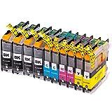 10 AfiD Druckerpatronen zu Brother LC-223 für DCP-J 4120 DW DCP-J 562 DW MFC-J 1100 Series MFC-J 1140 W MFC-J 1150 DW MFC-J 1170 DW MFC-J 1180 DWT MFC-J 4420 DW MFC-J 4425 DW