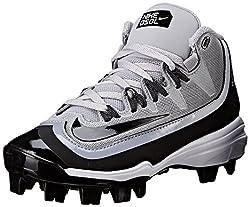 Nike Boy's Huarache 2kfilth Pro (Gs) Baseball Cleat Greyanthracitewhiteblack Size 1 M Us