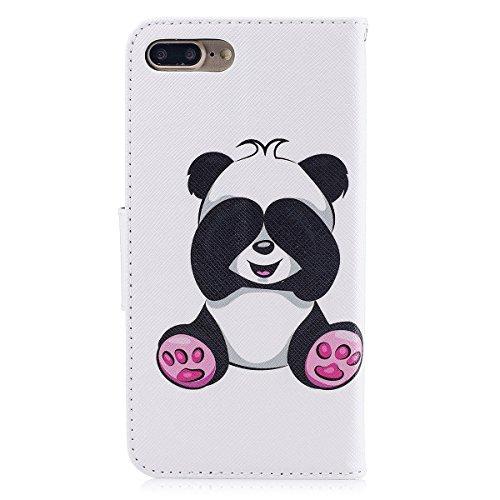 "MOONCASE iPhone 7 Plus Coque, [Colorful Painting] Durable TPU avec Béquille Etui Case Protection PU Cuir Card Holster Housse pour iPhone 7 Plus 5.5"" Bling Shy"